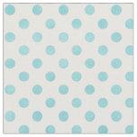 Retro pastel turquoise white polka dots pattern fabric