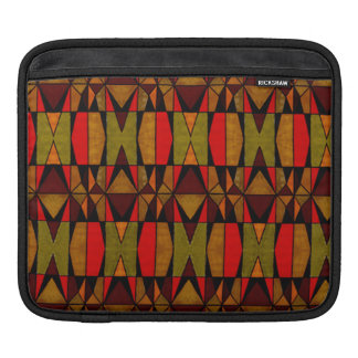 Retro Patchwork Look iPad Sleeve Pad