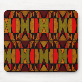 Retro Patchwork Look Mouse Pad Throwback Vibe