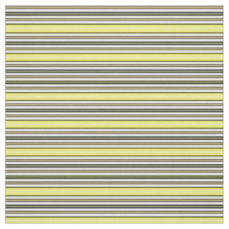 Retro Patio Style Yellow Horizontal Stripe Pattern Fabric
