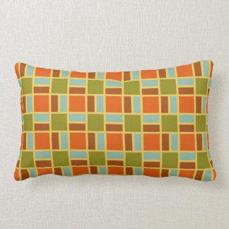 Retro Patio Tiles Rectangle Pillow