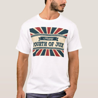 Retro Patriotic Happy 4th of July TShirt