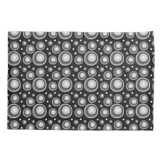 Retro Pattern  Black And White Polka Dots Pillowcase