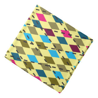 Retro Pattern | Changeable Background Color Bandana