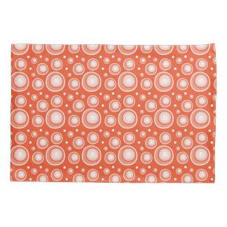 Retro Pattern  Coral And White Polka Dots Pillowcase