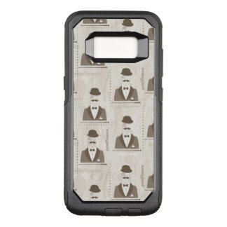 Retro pattern for man OtterBox commuter samsung galaxy s8 case
