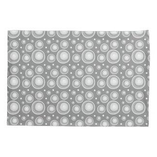 Retro Pattern  Gray And White Polka Dots Pillowcase