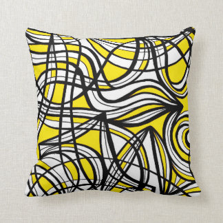 Retro Pattern Luxurious Sleek Throw Pillow