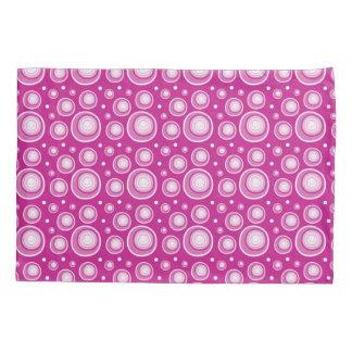 Retro Pattern  Pink And White Polka Dots Pillowcase