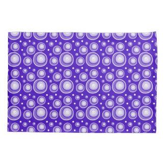 Retro Pattern  Purple And White Polka Dots Pillowcase