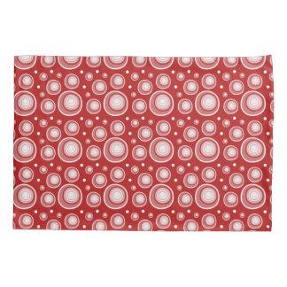 Retro Pattern  Red And White Polka Dots Pillowcase