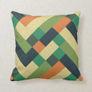 Retro pattern throw pillows