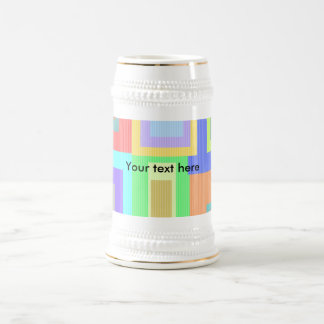 Retro patterned squares beer steins