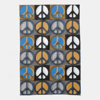 Retro Peace Sign Kitchen Towel