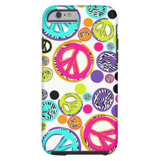 Retro Peace Sign Tough iPhone 6 Case
