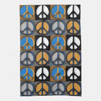 Retro Peace Sign Towels