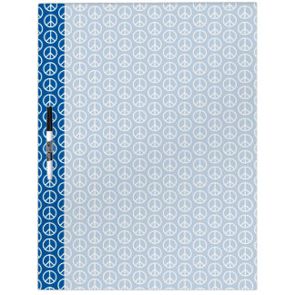 Retro Peace Signs on Deep Blue Dry Erase White Board