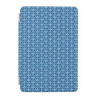 Retro Peace Signs on Deep Blue iPad Mini Cover