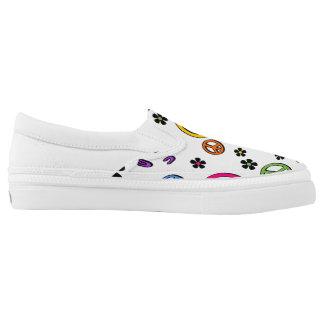 Retro Peace Slip-On Sneakers