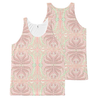 Retro Peach pattern All-Over-Print Tank Top