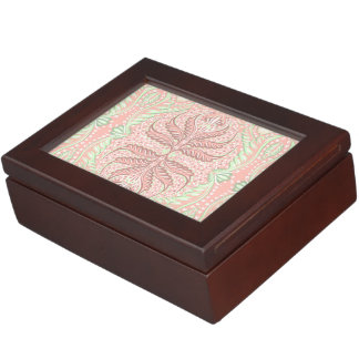 Retro Peach pattern Keepsake Box