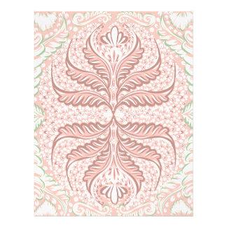 Retro Peach pattern Letterhead