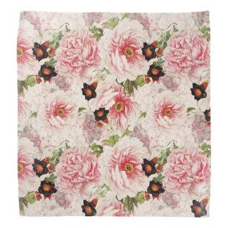 Retro Peony Flower Spring painterly Pattern Bandana