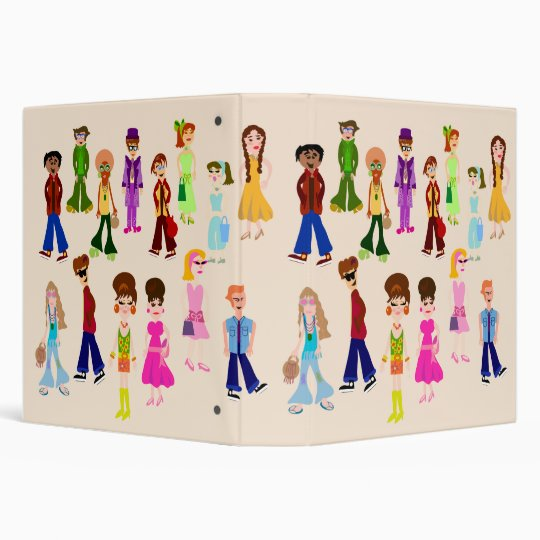 Retro People Binder