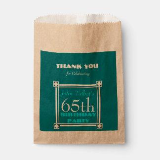 Retro Personalized Birthday Thank You Favor Bag