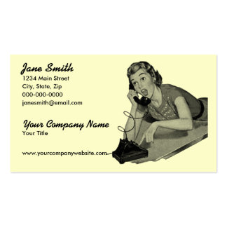 Retro Phone Caller Pack Of Standard Business Cards