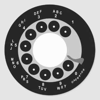 Retro Phone Stickers - Black/White