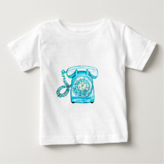 Retro Phone Turquoise Rotary Vintage Blue Baby T-Shirt
