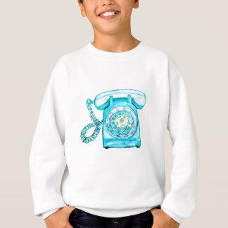 Retro Phone Turquoise Rotary Vintage Blue Sweatshirt