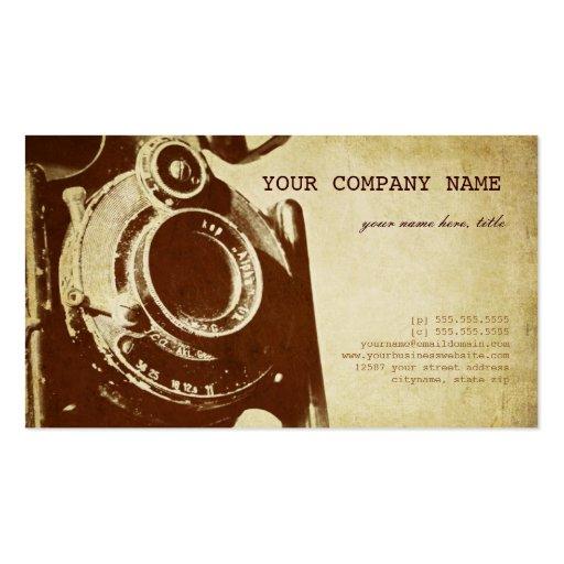 Rétro photographie vintage carte de visite