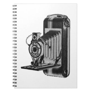 retro photography -  vintage camera notebook