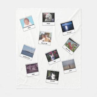 """""""Retro Photos"""" Fleece Blanket"""