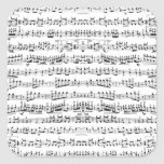 Retro Piano Sheet Music Notes Pattern Stickers