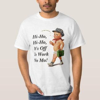 Rétro pièce en t de cadeau de retraite de cru de t-shirt