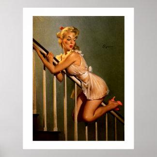 Rétro Pin classique vintage de Gil Elvgren vers le Posters