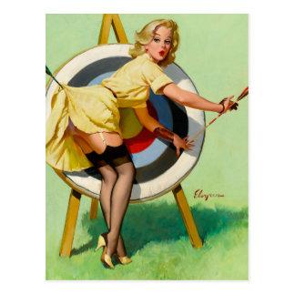 Rétro Pin de pin-up vintage de Gil Elvgren d'art Carte Postale