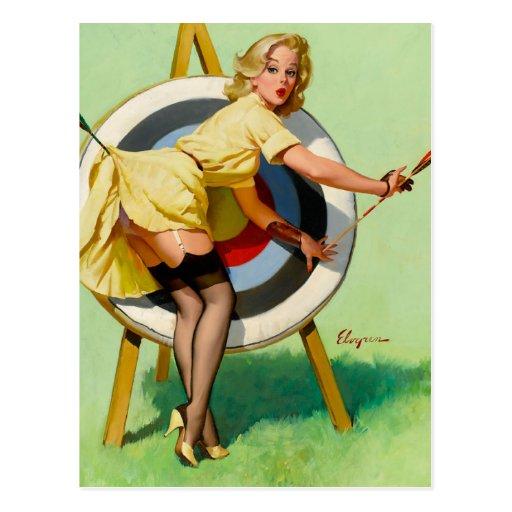 Rétro Pin de pin-up vintage de Gil Elvgren d'art v Carte Postale