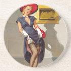 Retro Pin-Up Girl Coaster