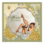 retro pin up girl floral Bridal Shower Tea Party