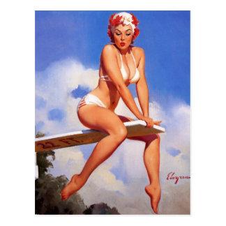 Rétro Pin vintage de Gil Elvgren vers le haut de Cartes Postales