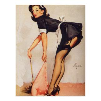Rétro Pin vintage de Gil Elvgren vers le haut de f Cartes Postales