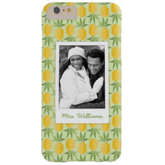 Retro Pineapples | Add Your Photo & Name Barely There iPhone 6 Plus Case