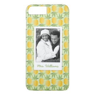 Retro Pineapples   Add Your Photo & Name iPhone 7 Plus Case