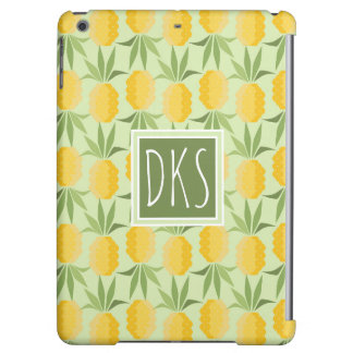 Retro Pineapples | Monogram iPad Air Case