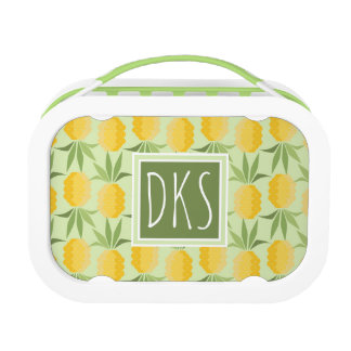 Retro Pineapples | Monogram Lunch Box