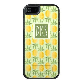 Retro Pineapples | Monogram OtterBox iPhone 5/5s/SE Case
